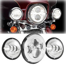 7 Inch LED Headlight & Passing Lights For Harley Road King Police FLHP