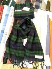 100% Lambswool Scarf by lochcarron   Black Watch   Made in Scotland   Tartan