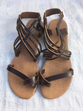 GIO & MI  BROWN   Leather  Sandals , S/ Toe, Strappy , Mules UK4 , RRP£55