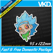Stoned Rick Sticker/ Decal - Reddit Vinyl Laptop Pokemon Acid Funny And Morty