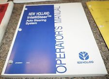 2004 New Holland IntelliSteer Auto Steering System Operators Manual Book
