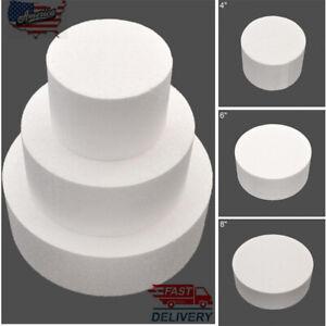 "4/6/8"" Round Styrofoam Foam Cake Dummy Modelling Sugarcraft-Flower Wedding Decor"
