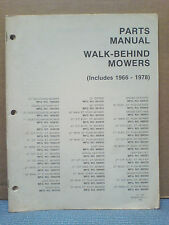Simplicity 1966 Thru 1978 Walk Behind Mowers Parts Manual Tp-598 Original!