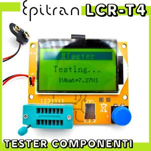 Lcr meter lcr-t4 tester capacimetro induttanzimetro componenti elettronici smd