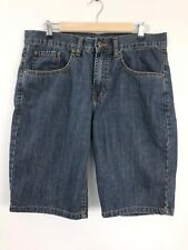 """New Look Straight Jean Shorts Mens Size W36 (33"""" Waist) 100% Cotton"""