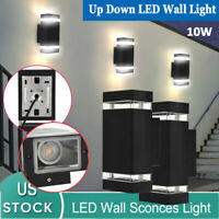 Up Down Exterior LED Wall Light Sconce Dual Head Wall Mount Lamp Fixture Outdoor