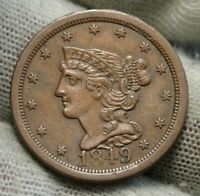1849 Braided Hair Half Cent -  Nice Coin, Free Shipping (97)