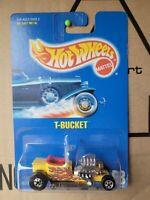 Hot Wheels 1991 - T BUCKET [YELLOW] VHTF NEAR MINT LONG CARD GOOD COND