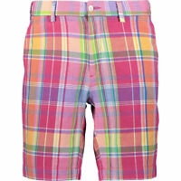 POLO RALPH LAUREN Mens Red Plaid Shorts - Regular Fit - Size W30