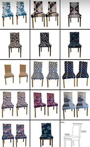 1/2/4/6PCS Dining Chair Seat Covers Slip Stretch Wedding Banquet Party Removable