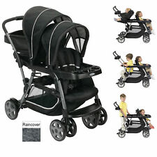 NEW GRACO METROPOLITAN DUO TANDEM PUSHCHAIR DOUBLE BABY STROLLER WITH RAINCOVER