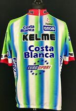 Nalini Vintage 90's Cycling Jersey Eurosport Kelme Men's Size 7 3XL Costa Blanca