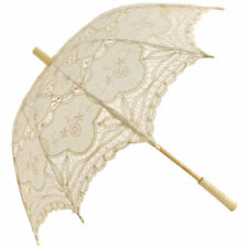 Ivory Fans and Parasols for Weddings
