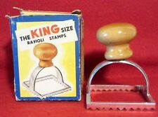 THE KING SIZE ~ RAVIOLI ~ MAKER ~ CHROMED BRASS ~ With BOX