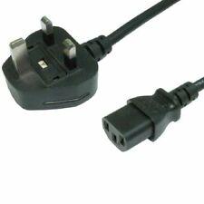 Blucharge Direct UK Plug to C13 Mains Lead 3m - Black