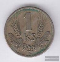 Slowakei KM-Nr. : 6 1941 sehr schön Kupfer-Nickel 1941 1 Koruna Wappen