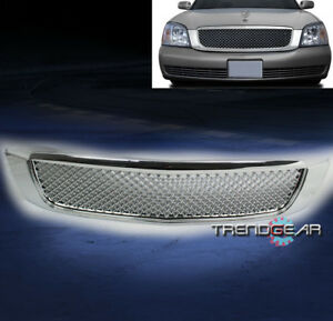2000-2005 CADILLAC DEVILLE FRONT UPPER HOOD MESH GRILLE GRILL INSERT ABS CHROME