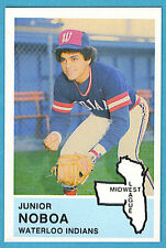 1982 Fritsch Midwest League: Waterloo Indians #28 Junior Noboa Single