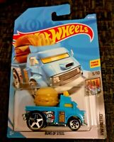MATTEL Hot Wheels   BUNS OF STEEL Blue  3/10   Brand New Sealed Box