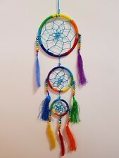 Dream Catcher Triple Mobile with Crystals  includes story (Post or Local Pickup)