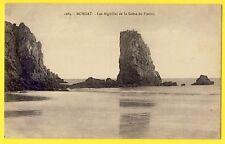 cpa CROZON (Finistère) VILLAGE de MORGAT Aiguilles de la GRÈVE du PORTZIC Plage