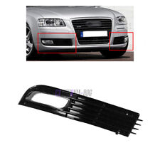 Glossy Black Left Front Bumper Fog Light Lamp Cover Grille Fit AUDI A8 D3 08-10