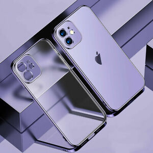 Matte Clear Plating Case For iPhone 13 Pro Max 12 11 XS XR 8 7+ Shockproof Cover