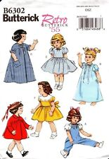"""Butterick Sewing Pattern B6302 6302 Retro Butterick '55 Retro Clothes 18"""" Doll"""
