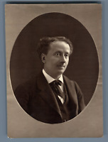 France, Acteur Louis Delaunay  Vintage print.  Photo glyptie  9x12  Circa