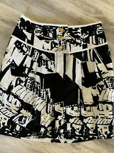 TORY BURCH SIMON SKIRT SIZE 0 Gold Buttons