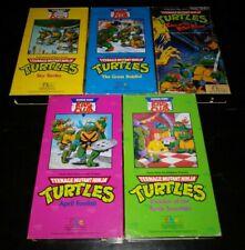Lot Of 5 VHS Teenage Mutant Ninja Turtles TMNT Burger King Club 1990 Cartoon FHE