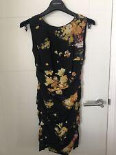 Dolce & Gabbana Petite Black Floral Dress, Size 36, UK 6, Excellent Condition