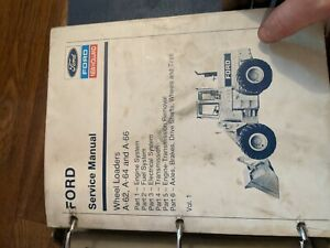 Ford New Holland A 62 A 64 A 66 Wheel Loader Service Manual  OEM ORIGINAL