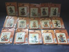 Lot of 15 ASSORTED NMI HALLOWEEN  Stitch n Hang Cross Stitch Kits NEW