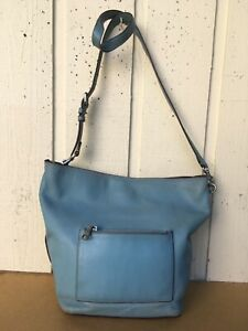 Coach 1941 glove tanned leather duffle, shoulder bag.Steel Blue.Distressed.58017