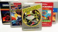 100 Box Protectors ATARI 2600 / 5200 / 7800 Video Games   Colecovision Cases CIB