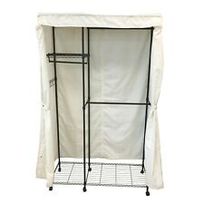 """Portable Wardrobe Garment Rack Closet Rod Cover 48""""W x 18""""D x 68""""H (Cover Only)"""