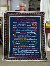 To my Daughter DN Ver 2 Fleece, Quilt Blanket Print In USA