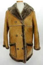 Sawyer of Napa Women's Spring Lamb Shearling Suede Leather Coat Sz 12