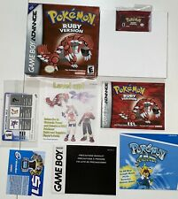 Pokemon Ruby Version GameBoy Advance Complete Game Box Manual Authentic CIB GBA