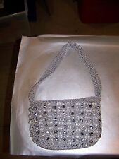New listing Vintage Walborg Beaded Gold Metallic Thread Purse Made In Italy.