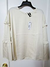 NWT Women's WORTHINGTON IVORY Bell Ruffle Sleeve Blouse Size X Large - MSRP $44