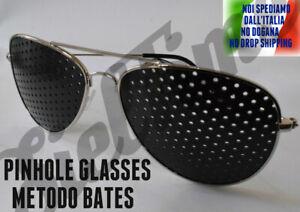 OCCHIALI STENOPEICI PINHOLE PIN HOLE GLASSES MIGLIORAMENTO VISTA METODO BATES SI