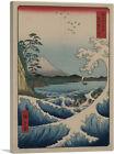 The Sea Off Satta In Suruga Province Canvas Art Print by Utagawa Hiroshige