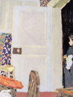VUILLARD -  LA PORTE OUVERTE -  ORIGINAL  LITHOGRAPH - 1966 - FREE SHIP IN US