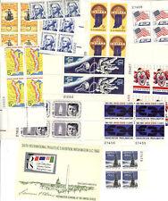 10 Mint 5 Cent PB's  Inc-#1331-32 Space Accomplishments+Line pair+Mini Sheet