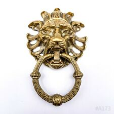 Antiker Türklopfer Löwe Löwenkopf Türbeschlag Haustür aus Messing - 15x9cm