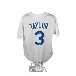 Chris Taylor Autographed Los Angeles Dodgers Custom Baseball Jersey - BAS COA