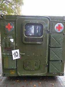 1x Dornier Kabine Unimog Motorradgarage Container Garage 2FMA ex Bundeswehr (10)