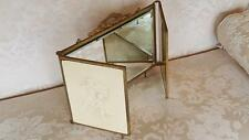 Antique1890's Cherub Triple Vanity Tri-Fold Mirror w/ 3 Beveled Mirrors French